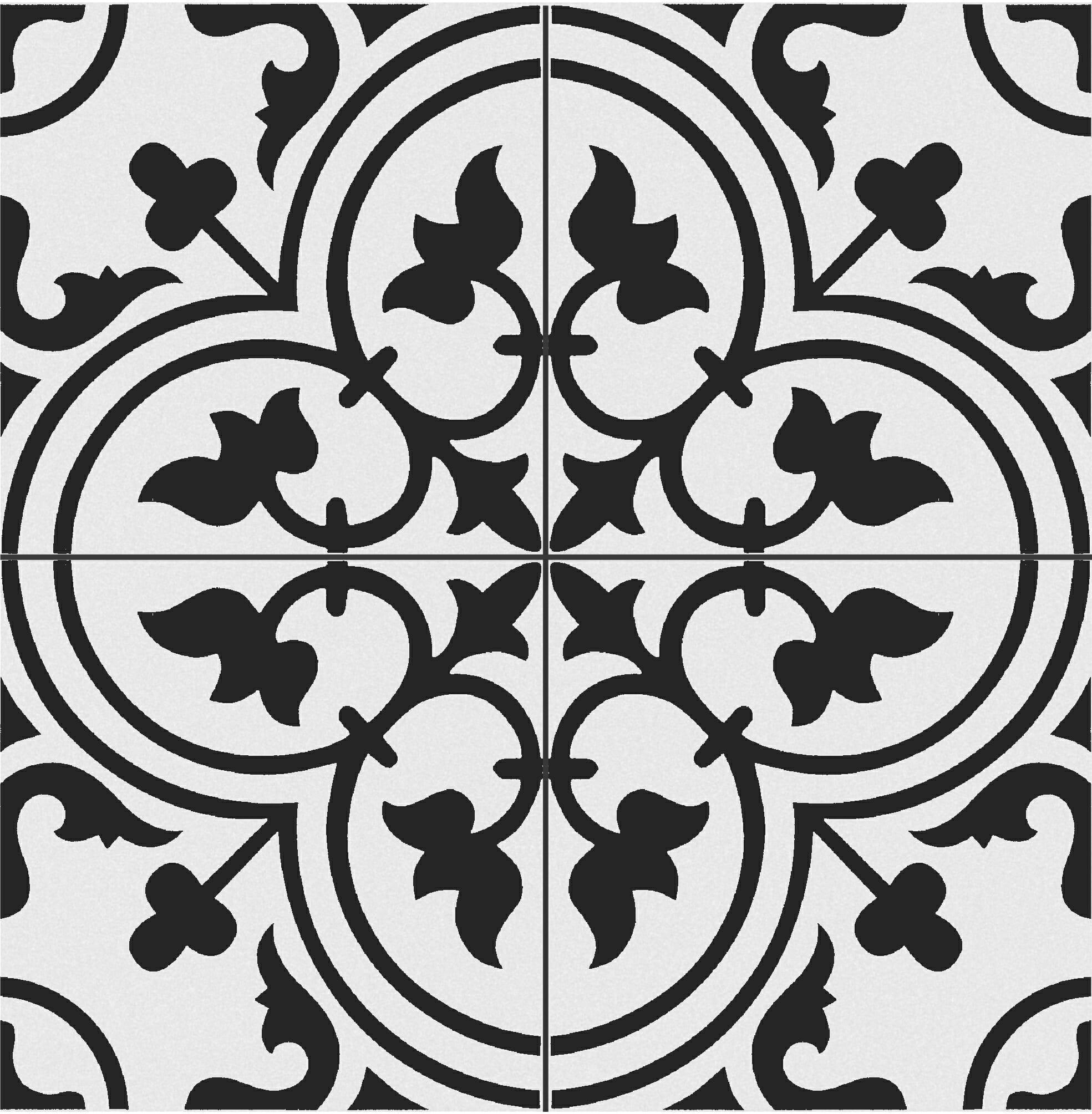 Tudor White Pattern