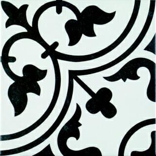 Tudor White Pattern tiles