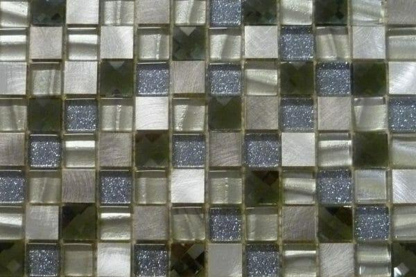 Athens Diamond Silver mosaics 2.3 x 2.3cm (1 Overhead)