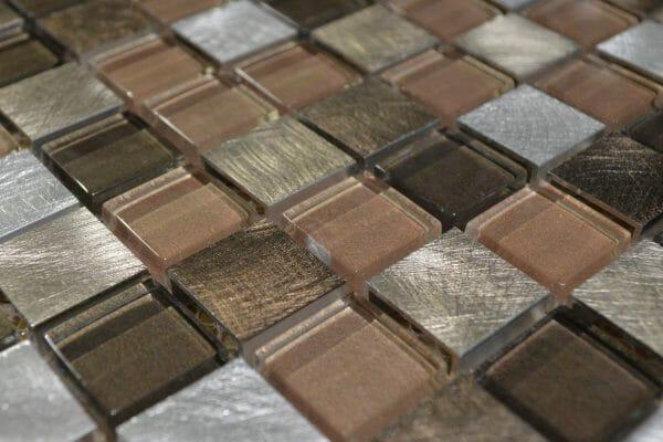 Bermuda Copper mosaic tile 2.3 x 2.3cm (2 Angle)