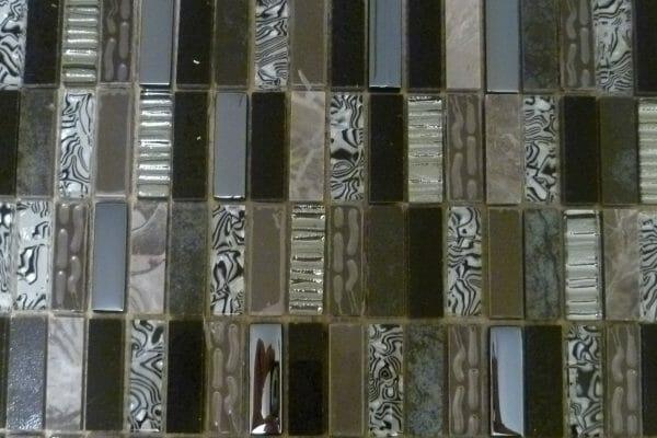 Safari Zebra mosaic tiles 1.5 x 4.8cm (1 Overhead)